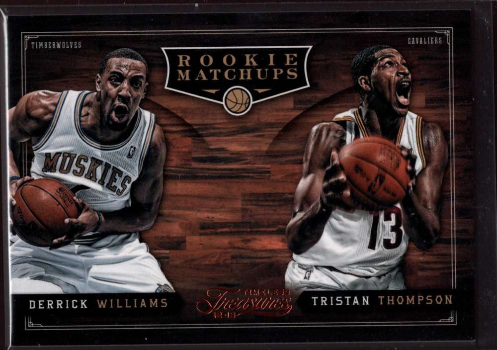2012-13 Panini Timeless Treasures Rookie Matchups #3 Derrick Williams/Tristan Thompson Mint RC Rookie /99