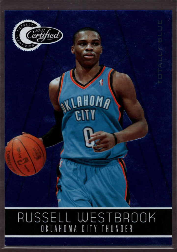 2010-11 Panini Totally Certified Totally Blue #127 Russell Westbrook Mint /299