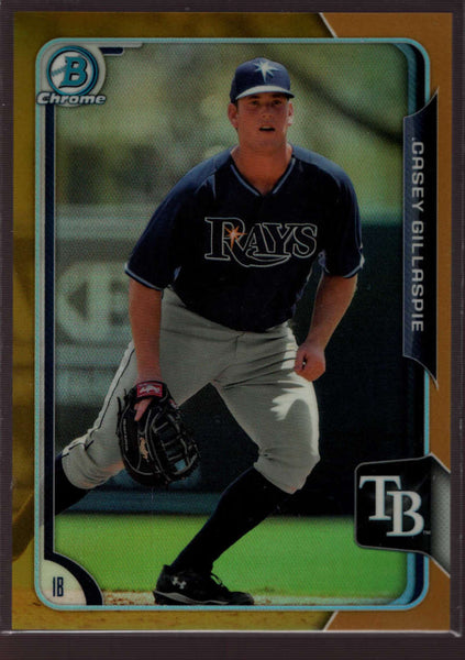 2015 Bowman Draft Chrome Gold Refractor #4 Casey Gillaspie Mint