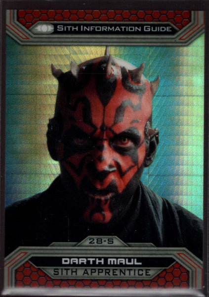 2015 Topps Star Wars Chrome Perspectives: Jedi vs Sith Prism Refractor #28-S Darth Maul NM-MT /199