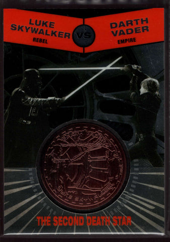 2015 Topps Star Wars Chrome Perspectives: Jedi vs Sith Bronze Medallions #34 Luke Skywalker vs. Darth Vader NM-MT Jersey