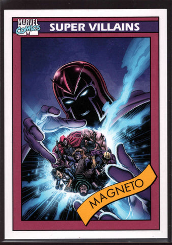 2015 Fleer Retro Marvel 1992 Impel Marvel Universe #6 Magneto Mint