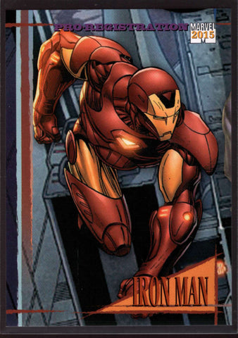 2015 Fleer Retro Marvel 1992 Skybox Marvel Universe #13 Iron Man Mint