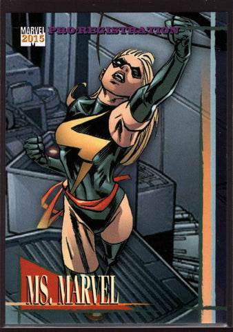 2015 Fleer Retro Marvel 1992 Skybox Marvel Universe #15 Ms. Marvel Mint