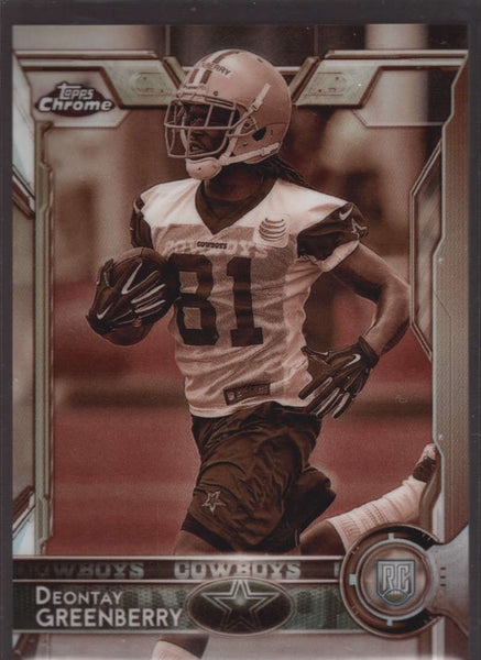 2015 Topps Chrome Sepia Refractor #187 Deontay Greenberry Mint RC