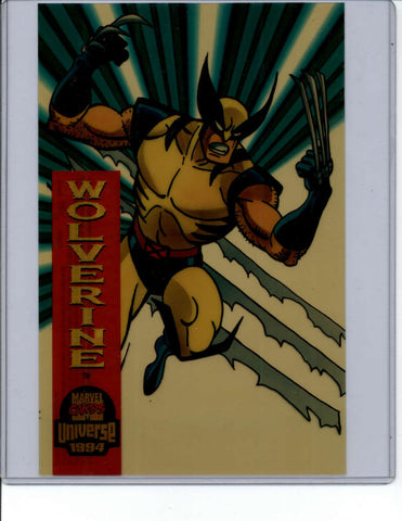 Wolverine Box Topper 6.5 x 10 Jumbo Topper Suspended Animation 1994 Marvel Universe RARE