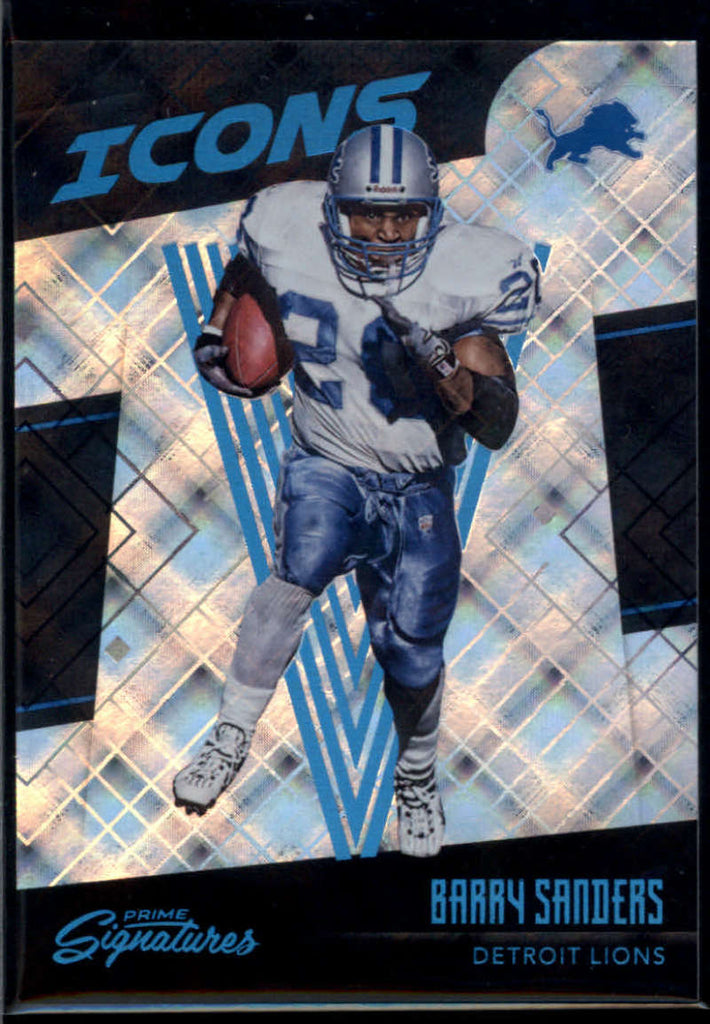 2016 Panini Prime Signatures Icons Cosmic #5 Barry Sanders Mint /100