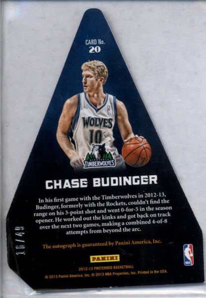 2012-13 Panini Preferred Panini's Choice Blue #20 Chase Budinger Mint /49
