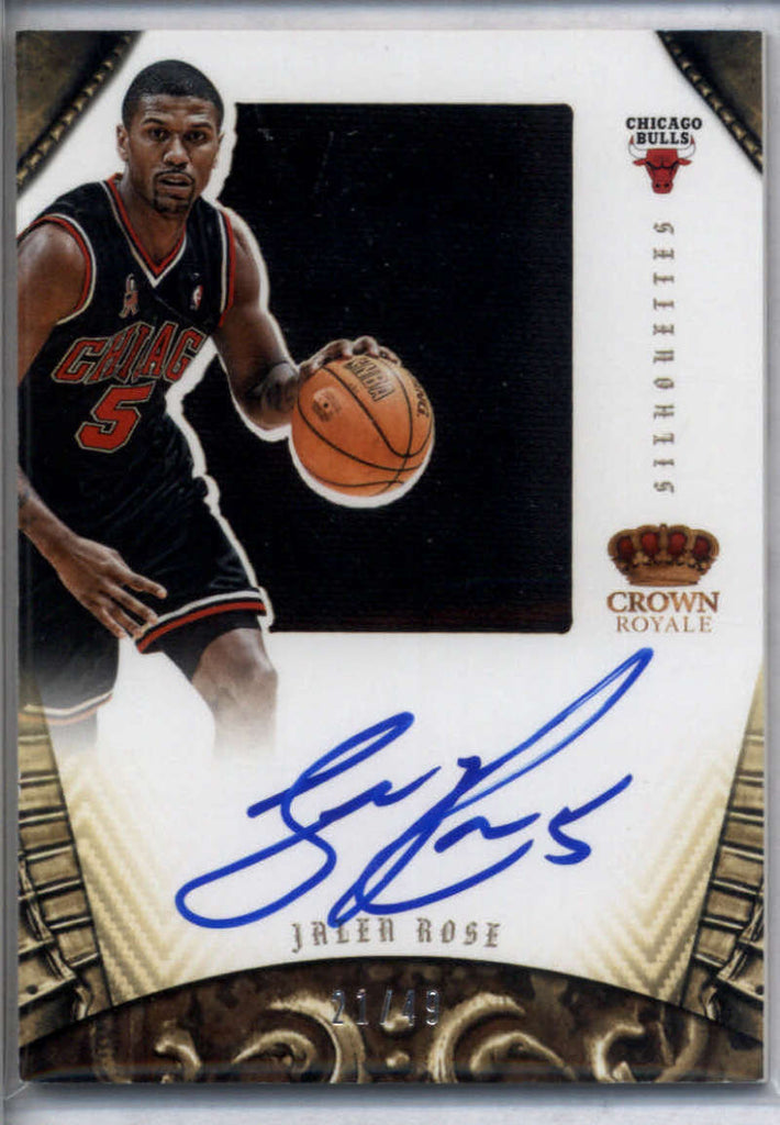 2012-13 Panini Preferred Silhouettes #216 Jalen Rose Mint /49
