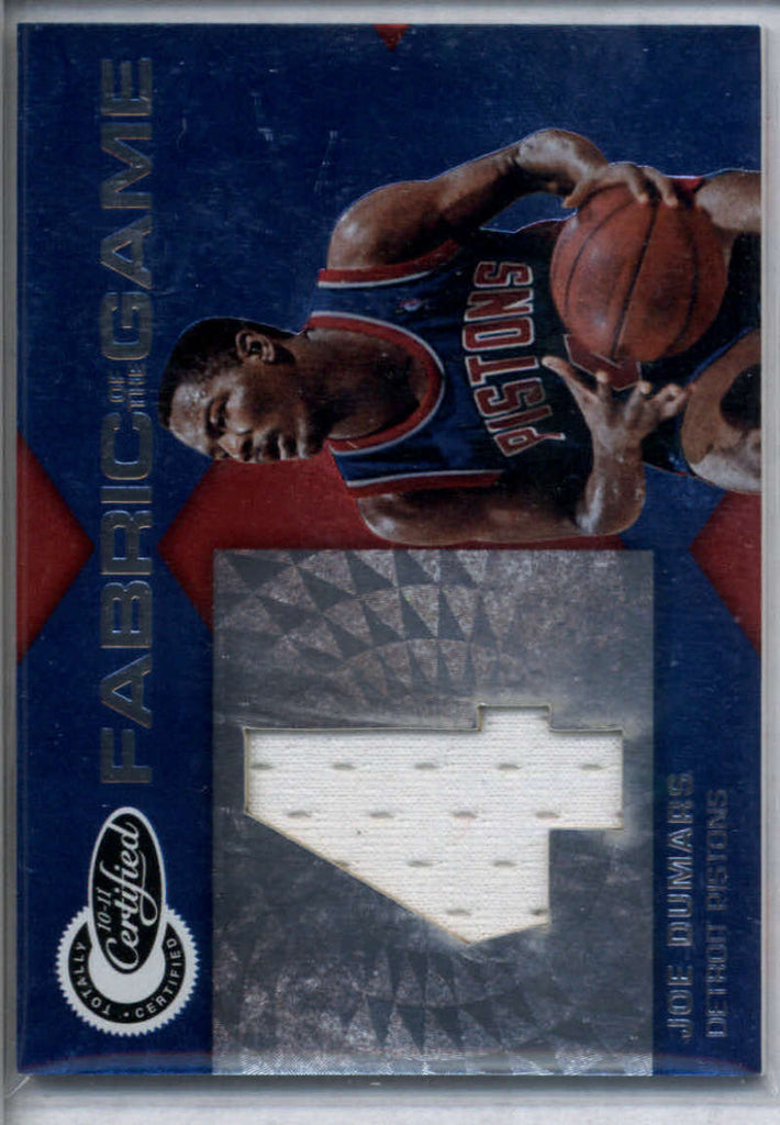 2010-11 Panini Totally Certified Fabric of the Game Jumbo Jersey Number #41 Joe Dumars Mint Jersey /99
