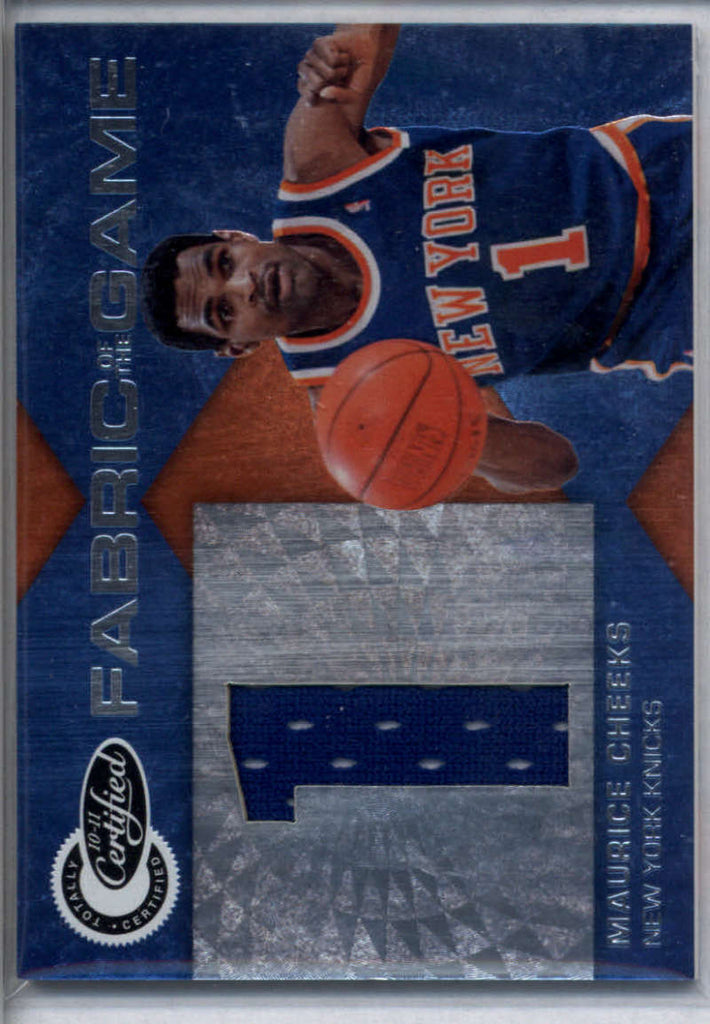 2010-11 Panini Totally Certified Fabric of the Game Jumbo Jersey Number #44 Maurice Cheeks Mint Jersey /99