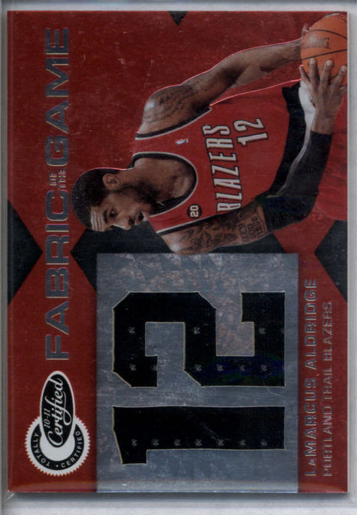 2010-11 Panini Totally Certified Fabric of the Game Jumbo Jersey Number #34 LaMarcus Aldridge Mint Jersey /299
