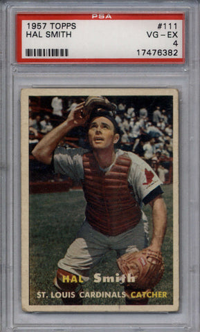 1957 Topps #111 Hal Smith PSA 4 VG-EX