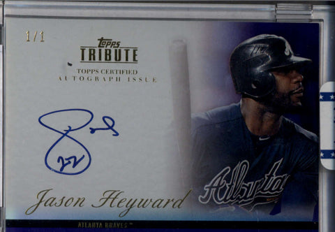 Jason Heyward 1/1 Auto Autograph 2012 Topps Tribute 1 of 1 Purple Atlanta Braves