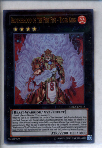 Brotherhood Of The Fire Fist - Tiger King Yugioh CBLZ-EN048 Holo Foil Rare NM-MT
