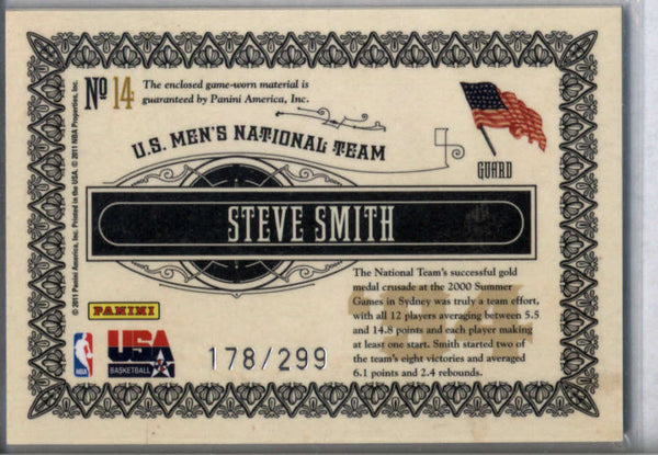 2010-11 Panini Gold Standard Gold Medalists Memorabilia #14 Steve Smith Mint Jersey /299