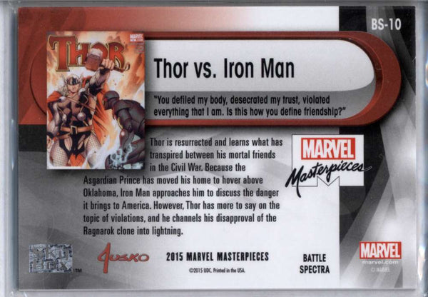 Thor Vs. Iron Man Foil 2015 Marvel Masterpieces Battle Spectra #BS-10 Jusko