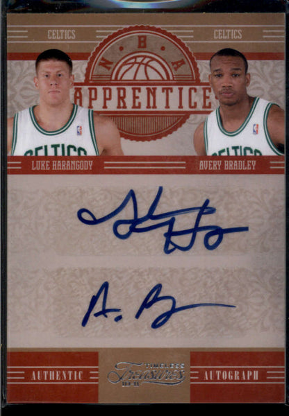 2010-11 Panini Timeless Treasures NBA Apprentice Combo Signatures #8 Avery Bradley/Luke Harangody Mint Auto /25