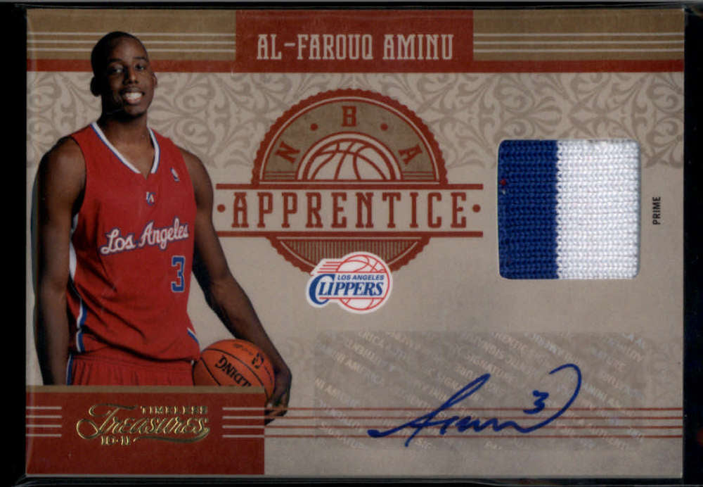 2010-11 Panini Timeless Treasures NBA Apprentice Signature Materials Prime #8 Al-Farouq Aminu Mint Rookie Jersey Patch A