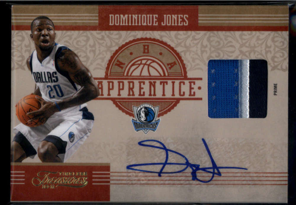 2010-11 Panini Timeless Treasures NBA Apprentice Signature Materials Prime #24 Dominique Jones Mint Rookie Jersey Patch