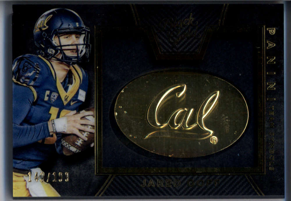 2016 Panini Black Gold Collegiate Team Symbols #29 Jared Goff Mint /199