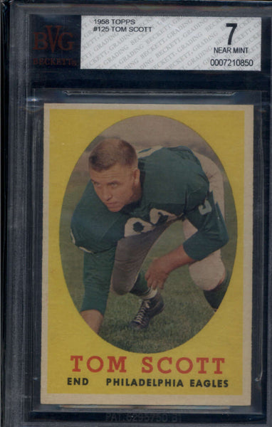 1958 Topps #125 Tom Scott BGS BVG 7 NM