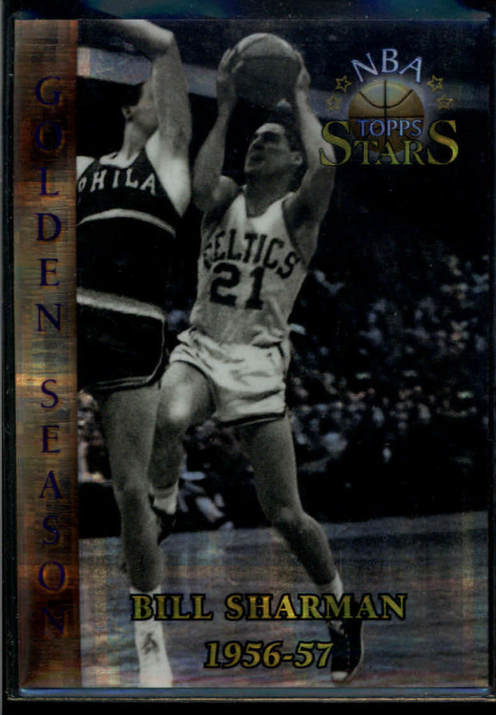 Bill Sharman 1996-97 Topps Stars Atomic Refractor #92 Golden Season 1956-57 Boston Celtics