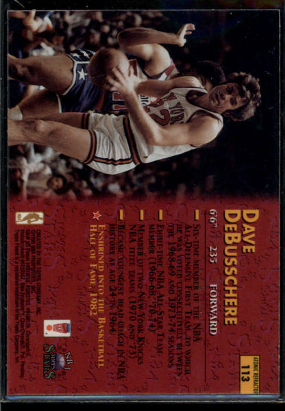 Dave DeBusschere 1996-97 Topps Stars Atomic Refractor #113 New York Knicks