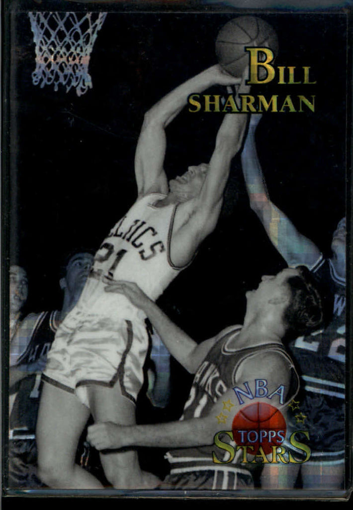 Bill Sharman 1996-97 Topps Stars Atomic Refractor #142 Boston Celtics