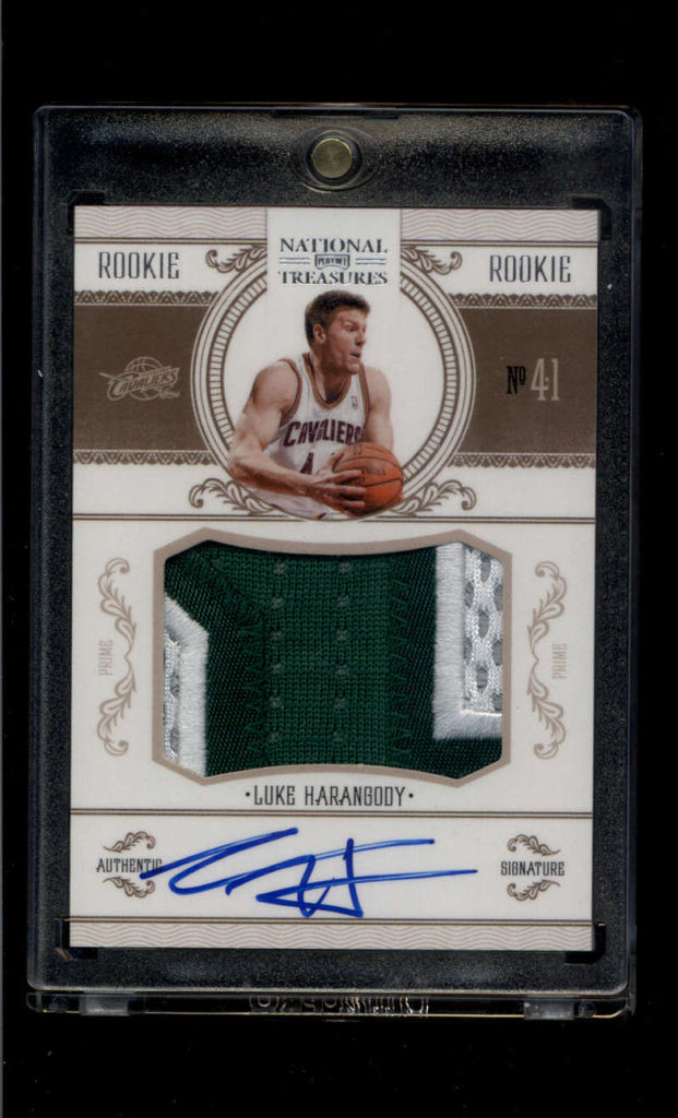 2010-11 Panini National Treasures Rookie Signature Materials Silver #233 Luke Harangody Mint RC Jersey Patch Auto /99 Cl