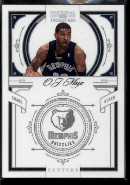 2009-10 Panini National Treasures Century Silver #31 O.J. Mayo Mint /10 Memphis Grizzlies