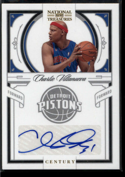 2009-10 Panini National Treasures Century Signatures #64 Charlie Villanueva Mint Auto /25 Detroit Pistons