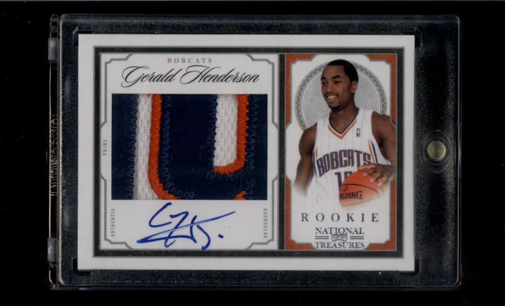 2009-10 Panini National Treasures Rookie Signature Materials Silver #211 Gerald Henderson Mint RC Jersey Patch Auto /99