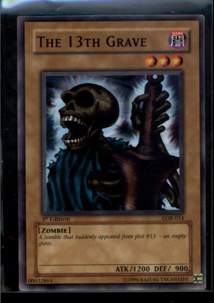 The 13th Grave 1st Edition LOB-014 Yugioh! Legend of Blue Eyes NM-MT