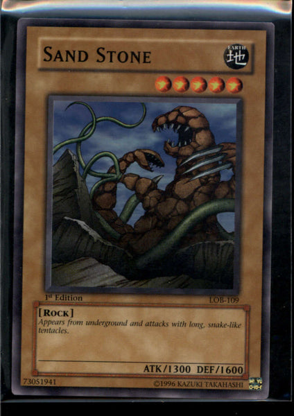 Sand Stone 1st Edition LOB-109 Yugioh! Legend of Blue Eyes NM-MT