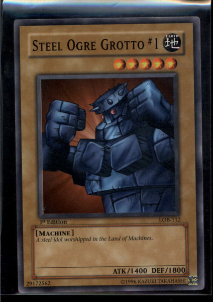 Steel Ogre Grotto #1 1st Edition LOB-112 Yugioh! Legend of Blue Eyes NM-MT
