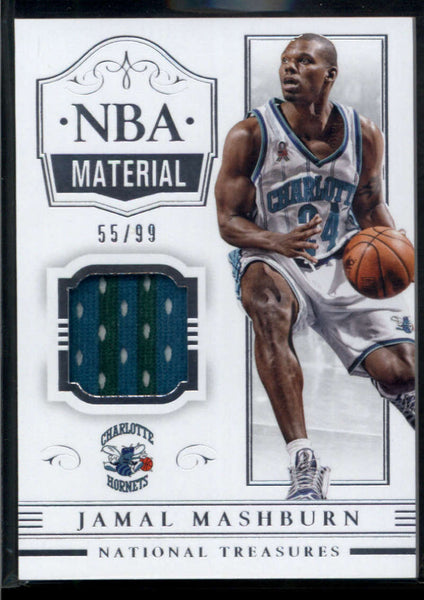 2014-15 Panini National Treasures NBA Material #26 Jamal Mashburn Jersey Patch /99 Charlotte Hornets