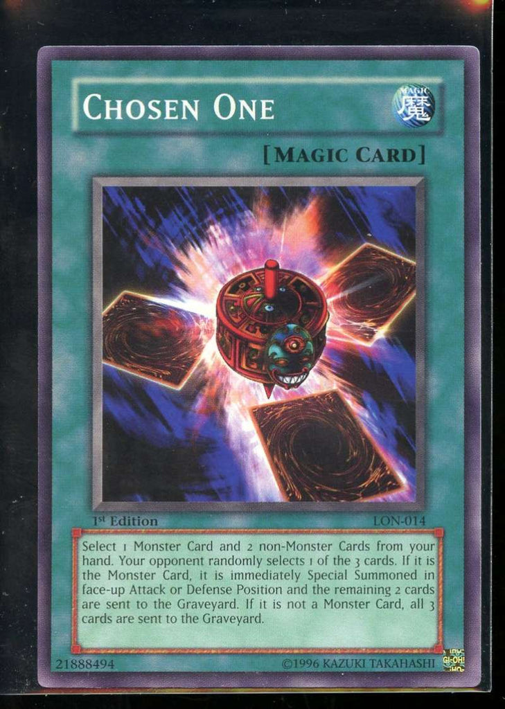 Chosen One 1st Edition LON-014 Yugioh! Labyrinth of Nightmare NM-MT