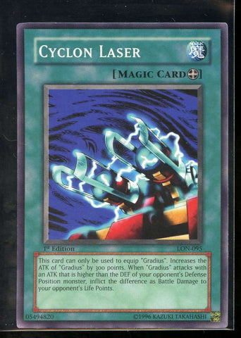 Cyclon Laser 1st Edition LON-095 Yugioh! Labyrinth of Nightmare NM-MT