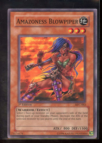 Amazoness Blowpiper 1st Edition MFC-062 Yugioh! Magician's Force NM-MT