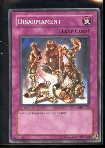 Disarmament 1st Edition MFC-102 Yugioh! Magician's Force NM-MT