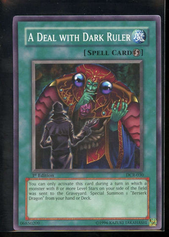 A Deal with Dark Ruler 1st Edition DCR-030 Yugioh! Dark Crisis NM-MT