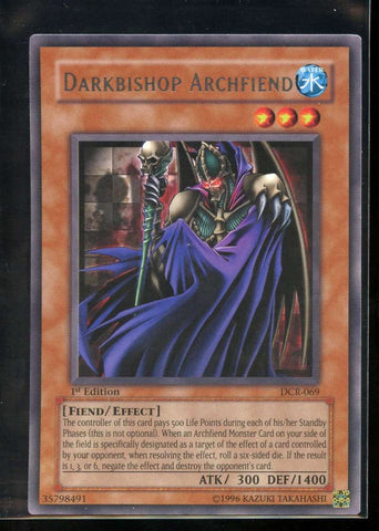 Darkbishop Archfiend RARE 1st Edition DCR-069 Yugioh! Dark Crisis NM-MT