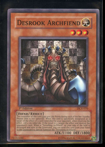 Desrook Archfiend 1st Edition DCR-070 Yugioh! Dark Crisis NM-MT