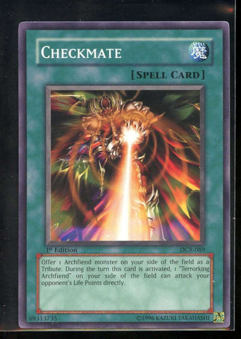 Checkmate 1st Edition DCR-089 Yugioh! Dark Crisis NM-MT