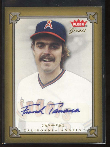 Frank Tanana Auto 2004 Fleer Greats of the Game California Angels