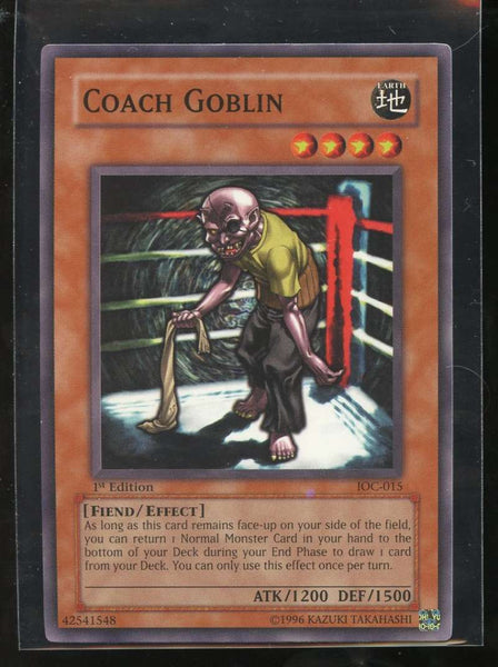 Coach Goblin 1st Edition IOC-015 Yugioh! Invasion of Chaos NM-MT