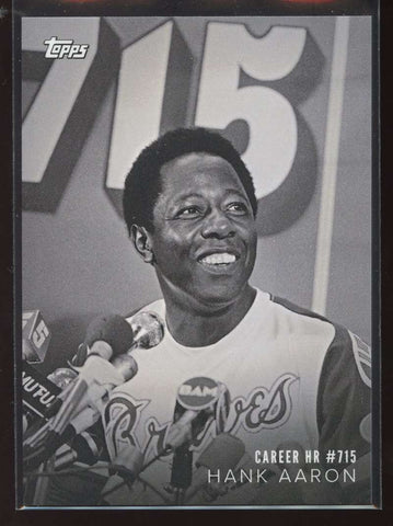 Hank Aaron 2018 Topps On Demand Black & White Historical Moments #HM-1 Braves