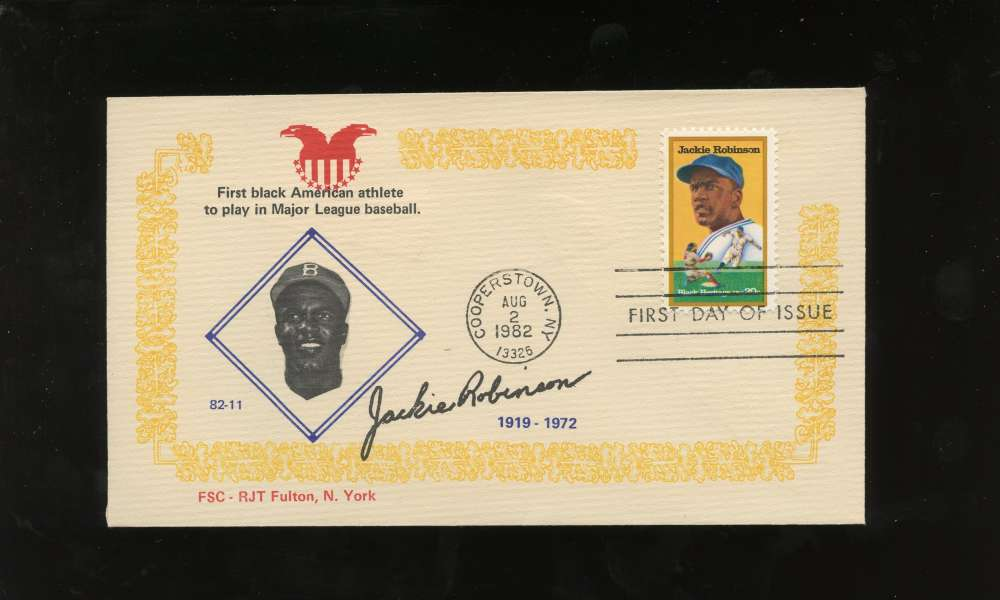 Jackie Robinson First Day Issue Fascimile Signature Black Heritage Series Letter Envelope Cooperstown Stamp Brooklyn Dodgers