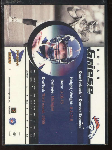 Brian Griese Purple Holographic /320 Serial 1999 Pacific Prism Broncos #45